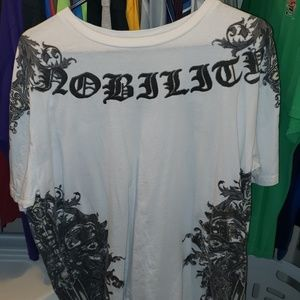 Men's size 2X white and silver shirt